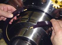 V-ring seal / rod / polymer / for rotating shafts