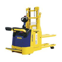 Electro-hydraulic stacker truck / hand / for lifting / with platform