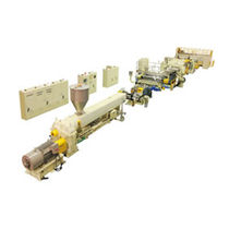 Plastic sheet extrusion line / sheet / for thermoplastics