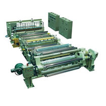 Flat-film extrusion line / for PMMA / for PE / for PP