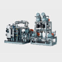 Liquid ring pump vacuum unit / with booster / industrial / compact