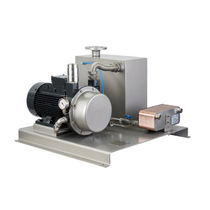 Liquid ring pump vacuum unit / industrial / compact