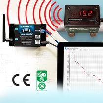 Compressed air flow meter / digital / wireless / with digital monitor