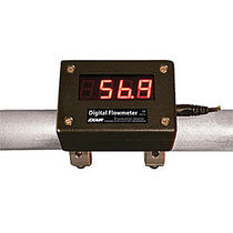Impeller flow meter / for compressed air / digital / clamp-on