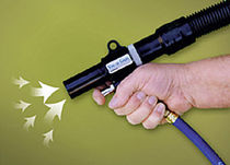 Vacuum air blow gun / lightweight