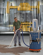 Dry vacuum cleaner / compressed air / industrial / mobile