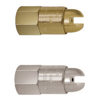 Full-cone nozzle / air / with airflow amplification / outlet