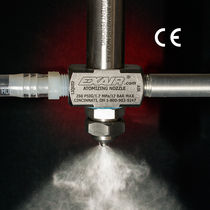 Spray atomizing nozzle / for liquids / siphon fed