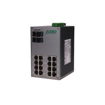 Managed network switch / 28 ports / serial / DIN rail