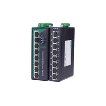 Gigabit Ethernet network switch / fiber optic / DIN rail mounted / RS-485