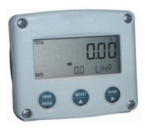 Digital flow indicator / built-in