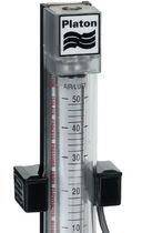 Variable-area flow meter / glass tube / for liquids / in metering tube