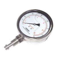 Dial pressure gauge / Bourdon tube / for pharmaceutical applications / for the food industry
