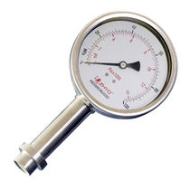 Dial pressure gauge / diaphragm / for the food industry / process