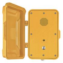 Vandal-proof telephone / weatherproof / with protection door / for railway applications