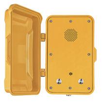 Vandal-proof telephone / weatherproof / analog / with protection door