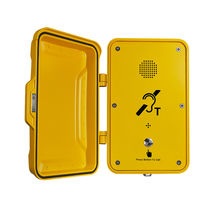 Vandal-proof telephone / weatherproof / with protection door / for railway applications