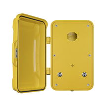 Vandal-proof telephone / weatherproof / analog / with protection door
