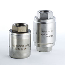 Exhaust silencer / security / for air ducts / for valves