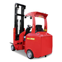 Electric forklift / ride-on / outdoor / for very narrow aisles