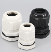 Nylon cable gland / waterproof / threaded / straight