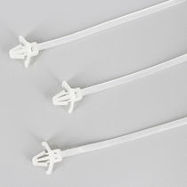 Nylon cable tie / with snap-lock mount / self-locking / corrosion-proof
