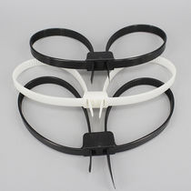 Plastic cable tie / inside serrated / self-locking / corrosion-proof