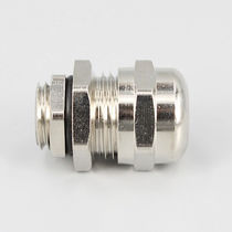 Stainless steel cable gland / IP68 / threaded / straight