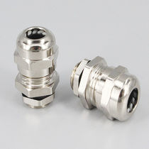 Metal cable gland / IP68 / threaded / straight