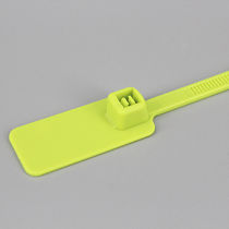 Nylon cable tie / flameproof / marker / double