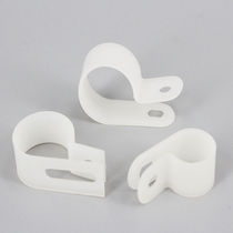 Nylon cable clamp / P / with screw mount / reusable