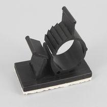 Nylon cable clamp / adjustable / self-adhesive