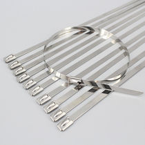 Stainless steel cable tie / flameproof / corrosion-proof / chemical-resistant