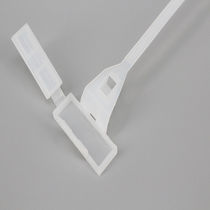 Nylon cable tie / inside serrated / marker / with snap-lock mount