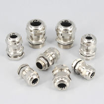 Metal cable gland / waterproof / straight / threaded