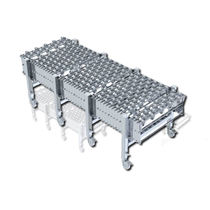 Roller conveyor / curved / extendable / loading