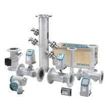 Ultrasonic flow meter / for liquids / with battery / wetted ultrasonic