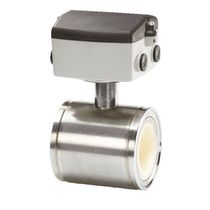 Electromagnetic flow meter / for air / flange / stainless steel