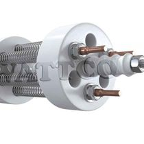 Immersion heater / for liquids / for tar / flange