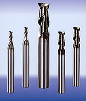 Aluminum milling cutter / for light alloys / helical / solid