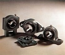 Flange bearing unit / ball bearing / metal
