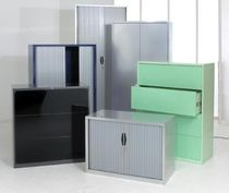 Storage cabinet / double-door / floor-standing / steel