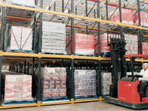 Storage warehouse shelving / for heavy loads / box / dynamic