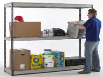 Storage warehouse shelving / for heavy loads / box / adjustable