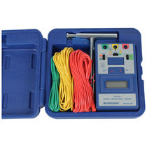 Earth resistance tester / for electrical installations / digital / compact
