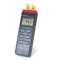 Thermocouple thermometer / digital / portable / dual-channel