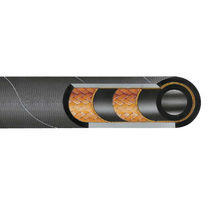 Hydraulic hose / medium-pressure / agricultural / synthetic rubber