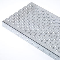 Sheet metal profile / flat / flooring or step