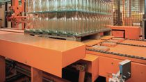 Transport conveyor / chain / for pallets / automatic