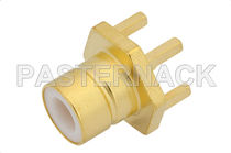 Coaxial connector / rectangular / jack / subminiature